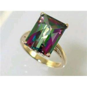 R189, Mystic Fire Topaz, Gold Ring
