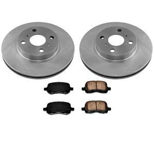 Front Disc Brake Rotors & Ceramic Brake Pads for Toyota Corolla 1998-2002