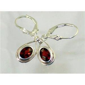SE008, Mozambique Garnet, 925 Sterling Silver Earrings