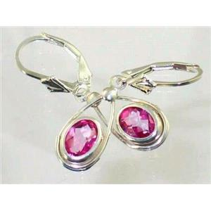 SE008, Pure Pink Topaz, 925 Sterling Silver Earrings