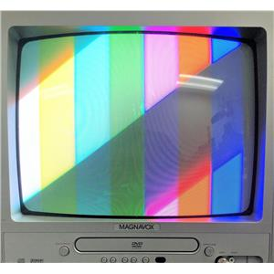 "Magnavox MWC13D6 13"" CRT Color TV w DVD Player Combo Unit"