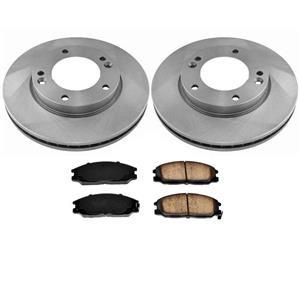 Front Disc Brake Rotors & Ceramic Brake Pads Fits for KIA Sorento 2007-2009 3pc