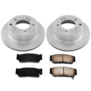Rear Left & Right Brake Rotors & Rear Ceramic Pads for Kia Sorento 2003-2006