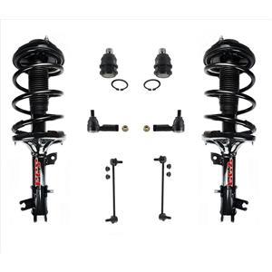 Front Struts Links Tie Rods Kit for 04-06 Santa Fe Automatic Trans 4 Wheel Drive
