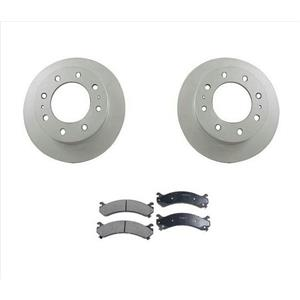 Fits For 03-09 GM Hummer H2 8 Stud Front Rotors and Ceramic Pads 3pc Kit