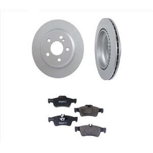 For 03-05 Mercedes E320 REAR Brake Rotors Pads WITH VENTED REAR NON 4MATIC