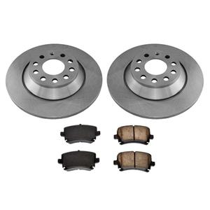 Rear 302MM 11 7/8 Rotors & Brake Pads for Audi A6 Quatto A6 Standard Size 06-11