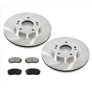Front Disc Brake Rotors & Ceramic Brake Pads for Kia Rondo 2010-2012 3Pc