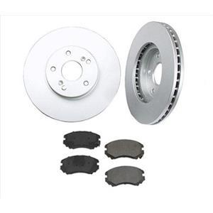Fits For 09-12 Hyundai Elantra Hatchback Only Front Brake Rotors Ceramic Pads