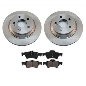 04-06 E500 07-09 E550 4 Matic AWD (2) REAR Brake Rotors & Ceramic Pads REAR
