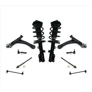 Frt Coil Spring Struts Control Arms Joints Tie Rods 05-10 Scion TC Automatic 10p