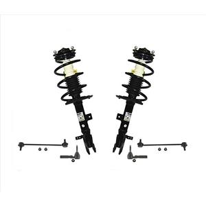Front Spring Struts + Outer Tie Rods + Sway Bar Links Jeep Compass and Patriot