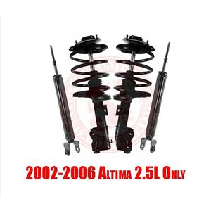 Front Spring Struts and Rear Shock Abosrbers for Altima 2.5L 2002-2006