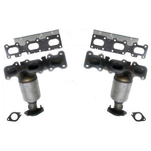 Fits 13-19 Ford Explorer Non Turbo (2) New Frt & Rr Manifold Catalytic Converter