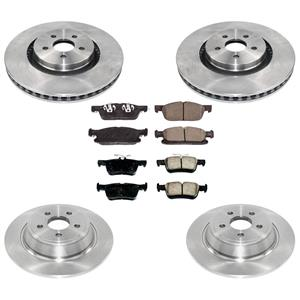 Rotors Brake Pads For Ford Edge 15-18 All Wheel Drive With Larger 345MM Rotors