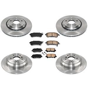 100% New Ft & Rr Brake Rotors Ceramic Brake Pads for Honda Odyssey 15-17 6pc Kit