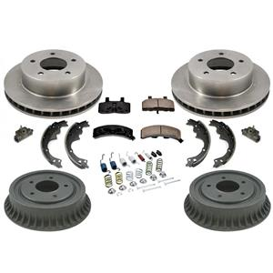 Rotors Brake Pads Drums Shoes for Chevrolet Astro All Wheel Drive 90-02 AWD Only