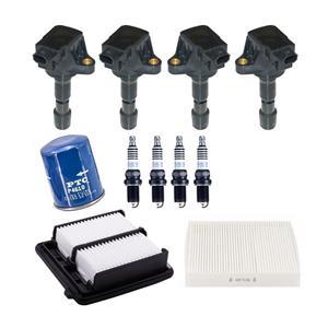 Ignition Coils Platinum Spark Plugs & 3 Filters for Honda CR-Z 1.5L 2011-2016
