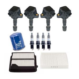 Ignition Coils Platinum Spark Plugs & 3 Filters for 2009-2014 Honda FIT 1.5L