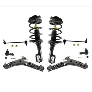 Front Struts Front Lower Control Arms + Chassis for 04-06 Santa Fe 4WD Automatic