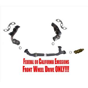 Front & Rear Converters with Flex Pipe for Toyota Sienna Front Wheel Drive 04-06