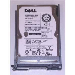 "Dell YJ0GR Hitachi HUC106030CSS600 2.5"" SAS 300GB 10k 6Gbps w/ M-Series Tray"