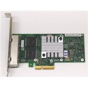 HP NC365T PCI-E Quad Port GigaBit Ethernet Card 593743-001 High Profile Refurb