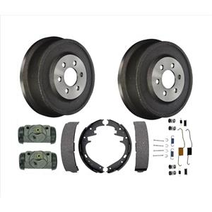 Rear Brake Drums Brake Shoes & Wheel Cylinders 6pc Kit for 99-02 Dodge Durango