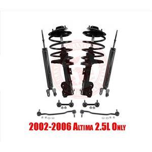 Front Strut & Coil Spring Assembly & Rear Shocks for Nissan Altima 2.5L 02-06