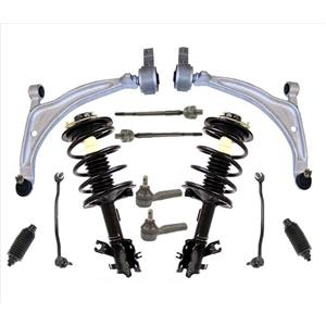 Coil Spring Struts Control Arms Sway Bar Links Tie Rods For 04-08 Nissan Maxima