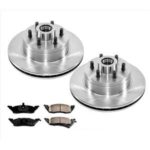 Front Brake Rotors & Brake Pads for Dodge Dakota 91-96 Rear Wheel Drive Rear ABS