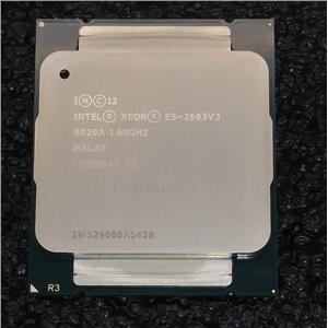 Intel SR20A Xeon E5-2603 V3 1.60Ghz 6-Core Socket LGA2011-3 15MB Cache