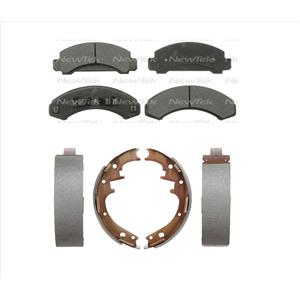 Fits For 91-94 Ford Explorer Front Ceramic Pads & Rear Organic Brake Shoes