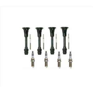 Ignition Connector Boots & 4 Double Platinum Spark Plugs
