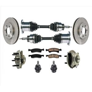 Front Wheel Bearings CV Axles Ball Joints for 03-06 Expedition Four Wheel Drive