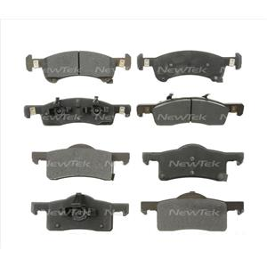 Fits For Ford 03-06 EXPEDITION LINCOLN NAVIGATOR (2) Sets F & R Brake Pads