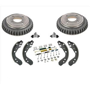 Rear Brake Drums Brake Shoes Spring Kit Wheel Cylinder for Honda Insight 00-06