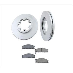 Fits For 86-95 Nissan Pathfinder 4 Wheel Drive Front Brake Rotors & Ceramic Pads