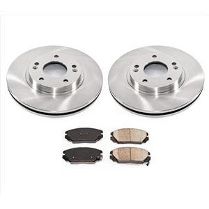Front Brake Rotors Ceramic Brake Pads for Hyundai Sonata 3.3L V6 06-10