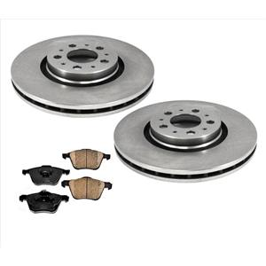 For 03-10 Volvo XC90 Only With 317MM 12.4 Inch Front Brake Rotors Ceramic Pads
