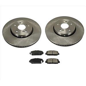 Front Disc Rotors Ceramic for Acura RDX 3pc Kit 13-18
