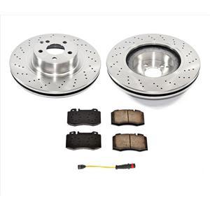Front Drilled Rotors Brake Pads Sensor for Mercedes-Benz CL600 01-06 2204211112