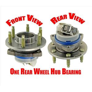 One (1) 6-Stud Rear Wheel Hub and Bearing Assembly for Cadillac 04-09 SRX