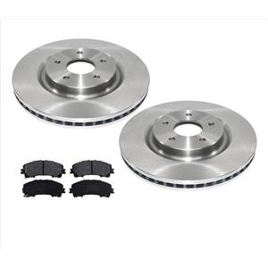 Fits For 14-17 Rogue With 3rd Row Seating Front Disc Brake Rotors & Ceramic Pads
