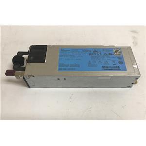 HPE 500W Flex Slot Platinum Power Supply 720478-B21 754377-001
