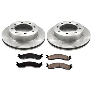 New Front Brake Rotors & Brake Pads for Ford F250 4 Wheel Drive 4x4 8 Stud 95-98