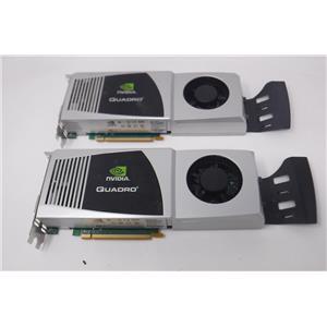 Lot of two NVIDIA Quadro FX 4800 (900-5060-0300-002) 1.5GB GDDR3 PCI Express x16