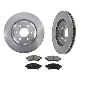 Fits For 11-12 VPG MV-1 4.6L Front Disc Brake Rotors & Ceramic Pads