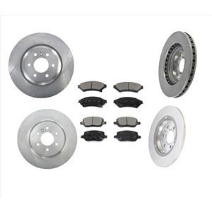 Fits For 11-12 VPG MV-1 4.6L Front & Rear Disc Brake Rotors & Ceramic Pads 6Pc