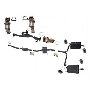 Full Exhaust System 3 Converters Dual Mufflers fits Honda Accord 4Door 3.0L V6
